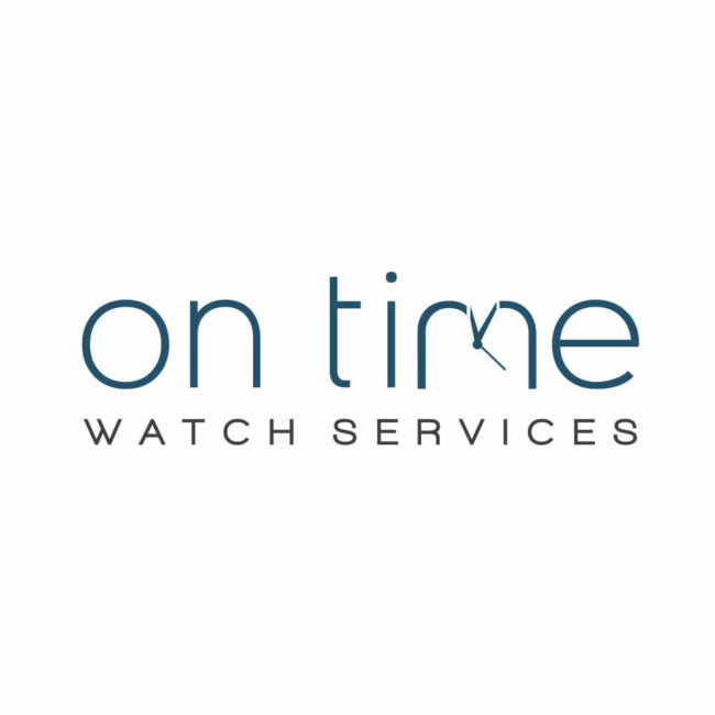Logo Design for On Time Watch Services